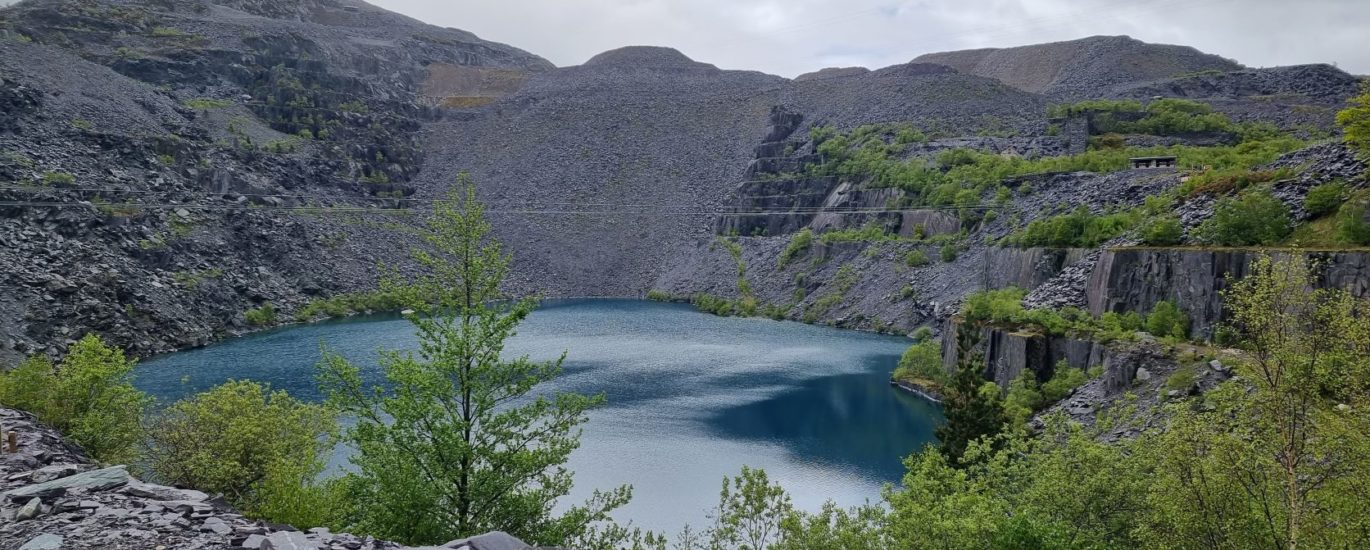 snowden zip wire at Penrhyn quarry